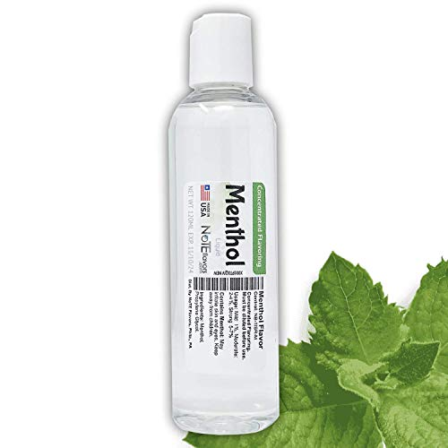 NoTE Multi-Purpose Liquid Menthol Flavoring Concentrate 1-4oz - USP Grade Menthol for Aromatherapy, Soaps, or DIY Liquid (120mL/4oz)
