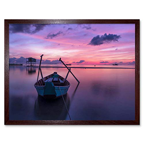 Wee Blue Coo Boat Sunset PHU QUOC Vietnam Art Prin