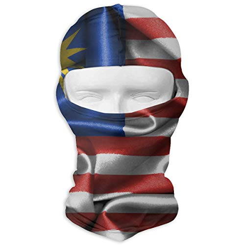 Flag of Malaysia Men Women Balaclava Neck Hood Full Face Mask Hat Sunscreen Windproof Breathable Quick Drying
