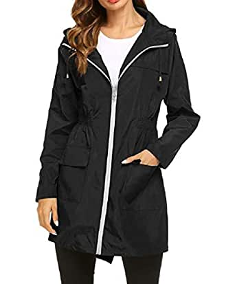 Howely Women's Outwear Lightweight Zip-Up Colorful Patterns Dust Coat AS1 S