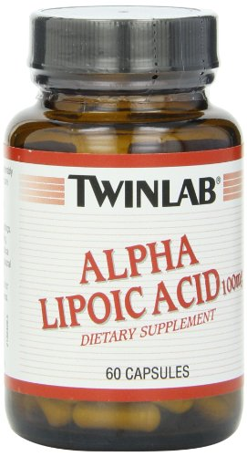 Twinlab Alpha Lipoic Acid 100mg, 60 Capsules (Pack of 2)