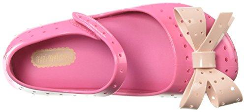 Pictures of Mini Melissa Girls' Mini Furadinha XI Ballet Flat, Pink, 10 Medium US Toddler 2