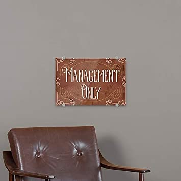 5-Pack Management Only 18x12 Victorian Card Premium Acrylic Sign CGSignLab