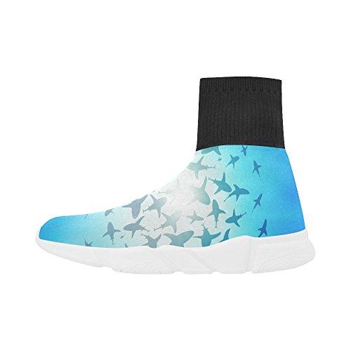 LEINTEREST shark Unicorn Stretch Sock Shoes for Women bQc6Ezw9