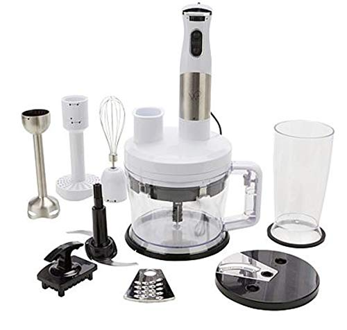 Wolfgang Puck 12-Cup Food Processor with Immersion Blender~ 7-in-1 (White) (Processor Puck Food Wolfgang)