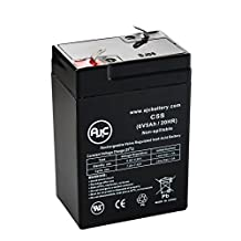 JohnLite cy-0112 6V 5Ah Spotlight Battery - This is an AJC Brand® Replacement