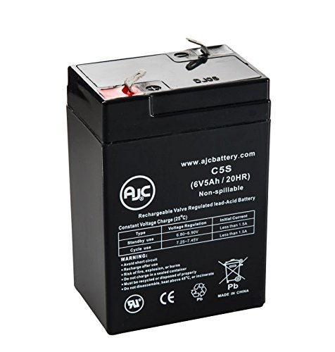 WKA6-5F 6V 5Ah Sealed Lead Acid Battery - This is an AJC Brand® Replacement