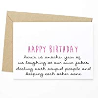 Birthday Greeting Card - Happy Birthday Here's To Another Year - L5