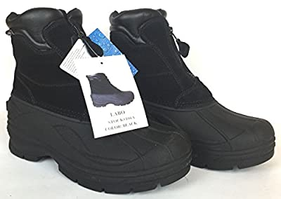 Lb Leather Waterproof Snow Boot Black Color Size Ew