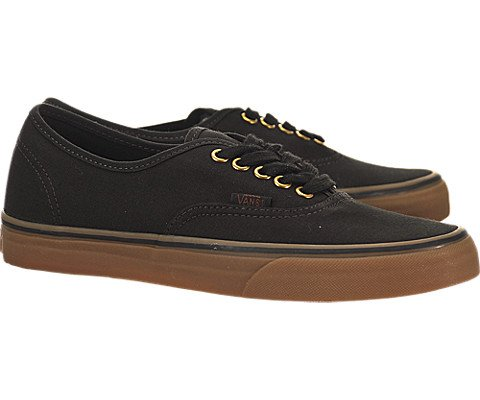 Galleon - Vans Unisex Authentic Black Rubber Skate Shoe 6.5 Men US   8  Women US 183d322eb1