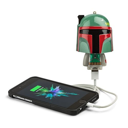 (ThinkGeek Star Wars Mighty Minis Boba Fett Portable Charger)