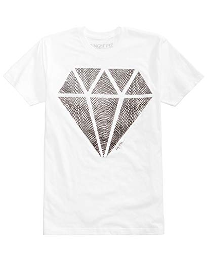 (Ring Of Fire Mens Snake Diamond Graphic-Print T-Shirt XXL Snake)