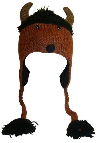 67 H Agan Traders Wool Beanie Cap Animal Hat (Bison) by Agan Traders