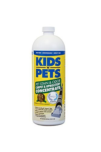 KIDS 'N' PETS Pet Stain & Odor - Carpet & Upholstery Cleaner Machine Solution - 27.05 oz (800 ml) | Professional Strength Formula Deeply Cleans Carpet & Upholstery | Non-Toxic & Child Safe