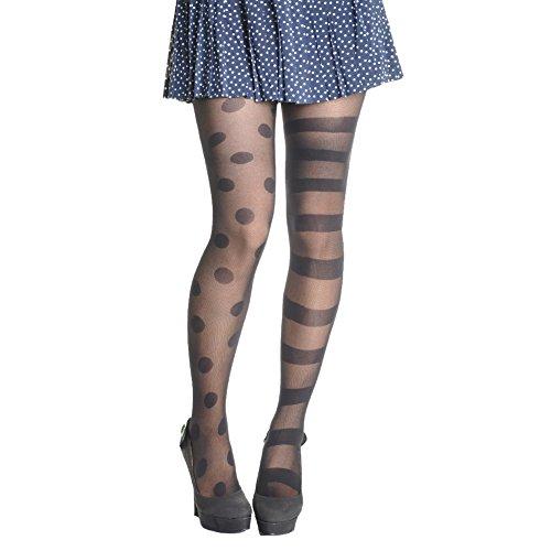 Angelina Mix-Matched Patterned Pantyhose Stripes & Dotty Day #003 ()