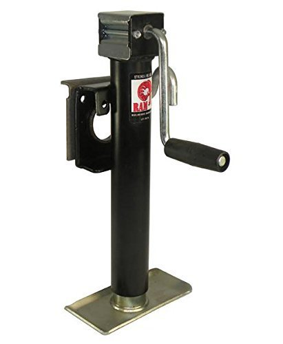 Swivel Trailer Jack With Weld-On Mounting Bracket (TJB-2001S-B) Sidewind - 2,000 lb rating by Pacific Rim