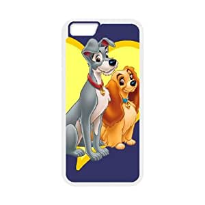 Lady and the Tramp iPhone 6 4.7 Inch Cell Phone Case White xlb-263151