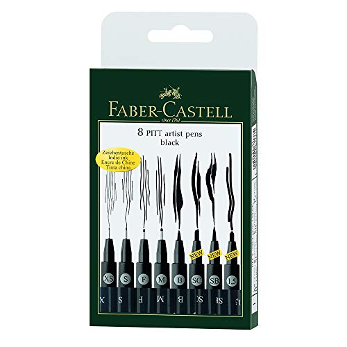 Faber Castell FC167137 Wallet Pitt Pen Nibs Art Set, Assorted ()