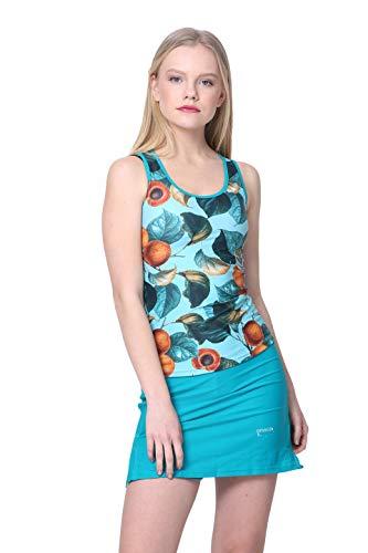 Amanda K Modest Swimsuit Tankini Top and Swim Skirt with Short Leggings (M) ()
