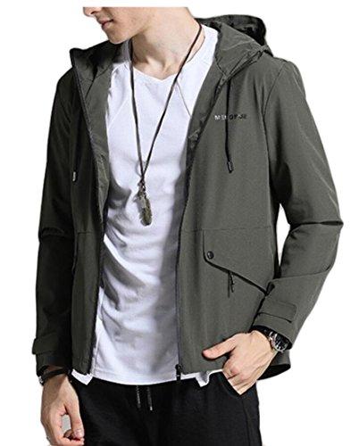 Zip Outdoor Gocgt Tactical Fleece Green Hooded Men's Hoodies Jacket Up Army 1XCEq