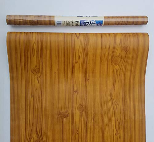Thaisan7, 27ft - KNOTTY PINE Wood contact wall paper Shelf liner peel stick -3 Rolls x 9ft