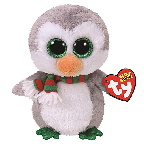 Stuffed & Plush Animals - Ty Beanie Boos 10 Quot 25cm Chilly The Christmas Penguin Plush Medium Soft Stuffed Animal Collection - Regular Teeny Panda Rainbow Activities Ostrich Slides Turke from Unknown
