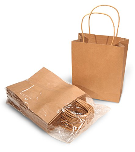 Brown Paper Kraft Bags with Handles for Gifts, Arts & Crafts, Retail - 24 Count - Usa In Shoping
