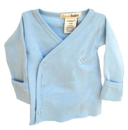 L'ovedbaby Wrap Shirt, Blue Newborn (up to 7 lbs.)