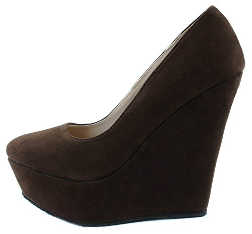 Shoes High Delicacy 33 Trendy Brown Women's Heels 6xqTgwHq
