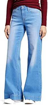 Women's High Rise Wide Leg Light Denim - Mossimo