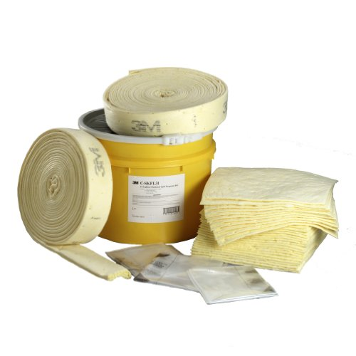 3M Chemical Sorbent Folded Spill Kit C-SKFL31, Yellow 3m Chemical Sorbent Roll