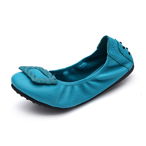 Zapatos de suave rollo de huevo/Zapatos cómodos/Zapatos de mamá/Zapatos de conducción de fondo plano A