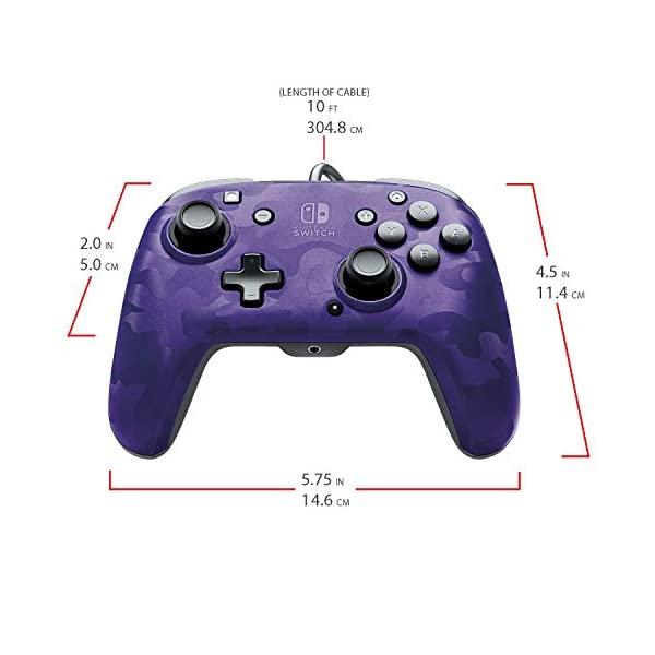 PDP 500-134-NA-CM05 Nintendo Switch Faceoff Deluxe+ Audio Wired Controller - Purple Camo 2