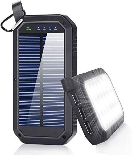 Amazon.com: Cargador solar de 8000 mAh, 3 puertos USB y 21 ...