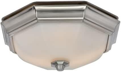 Harbor Breeze 2-Sone 80 CFM Nickel Bathroom Fan with Light ...