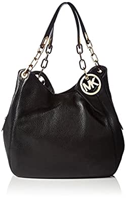 michael michael kors fulton large shoulder tote in black handbags. Black Bedroom Furniture Sets. Home Design Ideas
