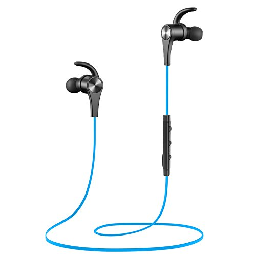 SoundPEATS Bluetooth Headphones In Ear Wireless Earbuds 4.1 Magnetic Sweatproof Stereo Bluetooth Earphones for Sports With Mic (8 Hours Play Time, Secure Fit, Noise Cancelling) (BLUE) by SoundPEATS