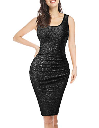- Rheane Black Sparkly Bodycon Evening Party Dresses for Women X-Large