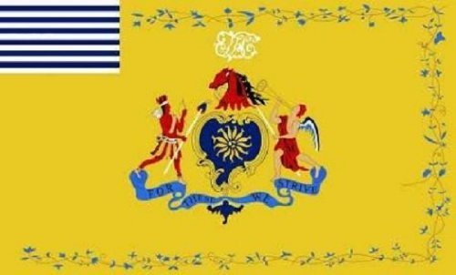 Philadelphia Light Horse - Ruffin Flag Company 3x5 Philadelphia Light Horse Flag Revolutionary War Banner Lighthorse Cavalry