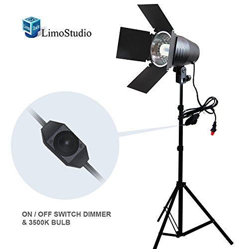 LimoStudio 150W Continuous Barndoor Lighting Stand Kit with Dimmer Switch Photography Photo Studio, AGG1798 by LimoStudio