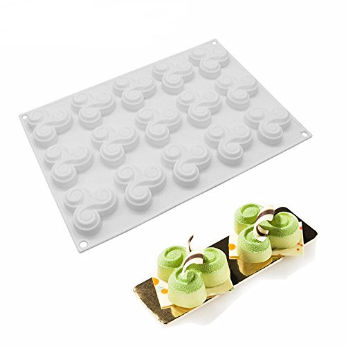 Bavarois Mold (SuperStore 1PC 15 even millet odd Shape Silicone Mould For Candy,Cookie,Jelly,Cake,Soap,Chocolate Mignon Caramel Bavaroise Truffle Mousse Mold Cake Tools)