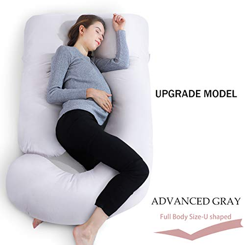 Cotton Pregnancy Pillows - INSEN Full Body Pregnancy Pillow with