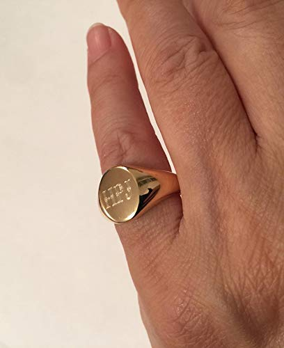 Signet Ring, Sterling Silver, Old English Font, Oval Seal, Handmade Jewelry