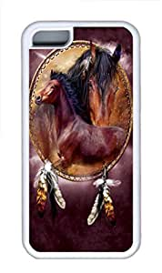 iPhone 5C Case iPhone 5C Cases Horse Shield 2 TPU Rubber Soft Case Back Cover for iPhone 5C White