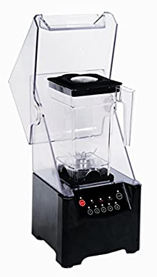 Commercial Standard Quite Smoothie Blender Smoothie Maker 1500ml with 5 Speed Black 220V