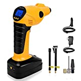 CARYWON Cordless Air Compressor, Auto Handheld Electric Digital Tire Inflator with LED Light,12V 150PSI Portable Tyre Pump Perfect for Car, Bicycle, Motorcycles, Airbeds, Basketball Review
