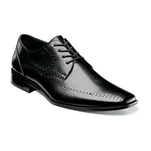 Stacy Adams Atwell Noir Chaussures À Lacets En Cuir Oxford