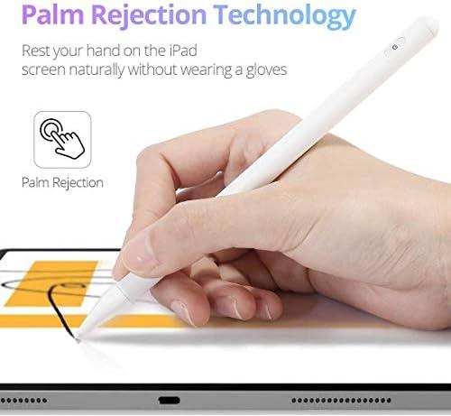 Lápiz capacitivo para iPad con rechazo de palma, (2018-2020) lápiz iPad con diseño magnético para Apple iPad, iPad (6/7 Gen)/iPad Pro (11/12.9 pulgadas)/iPad Mini Gen 5/iPad Air Gen 3 (blanco) 6