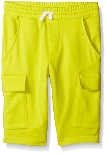 French Toast Toddler Boys French Terry Cargo Short, Bright Green, - Terry Shorts Bright