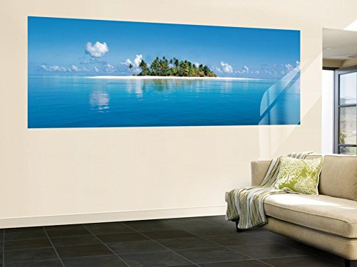 (50x144) Maldive Island Panoramic Huge Wall Mural Door Art Print (Mural Wall Photo Island)